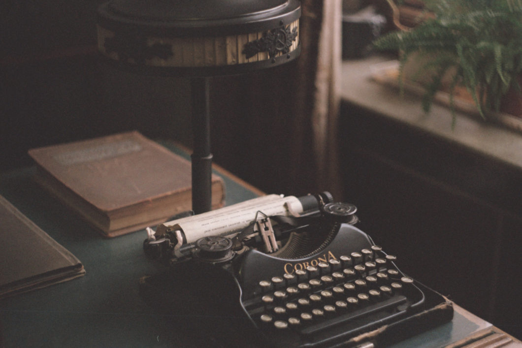 Corona typewriter on a table-unsplash